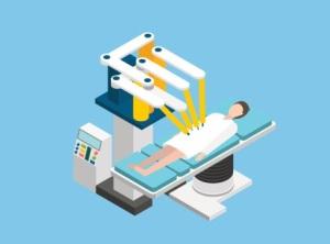 Robotic Surgery Isometric Icons Set